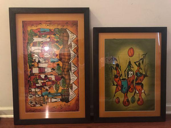 Custom Framed Original African Batik