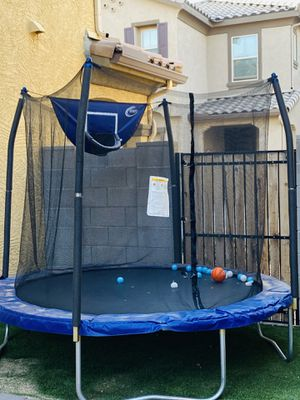 8 inch trampoline with basketball hoop and ball for Sale in Goodyear, AZ