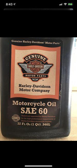 Harley Davidson motor company motorcycle oil SAE 60 for Sale in Glendale, AZ