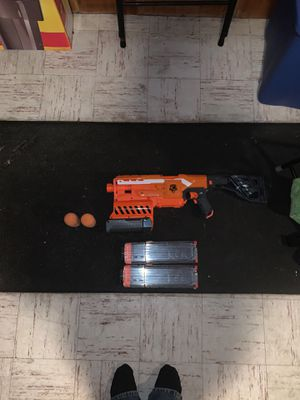 NERF Gun Demolisher 2 in 1(Comes with Missiles, Battery and Magazine) for Sale in Dover, MA