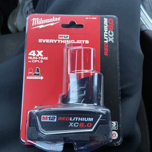 M12 12-Volt Lithium-Ion XC Extended Capacity 6.0Ah Battery Pack for Sale in Hyattsville, MD