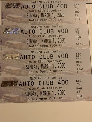 NASCAR AUTO CLUB 400 for Sale in Ontario, CA