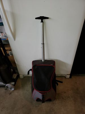 Small dog push, pull on wheels or backpack for Sale in Snohomish, WA