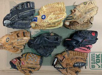 Baseball gloves lot of six for Sale in Glenarden,  MD