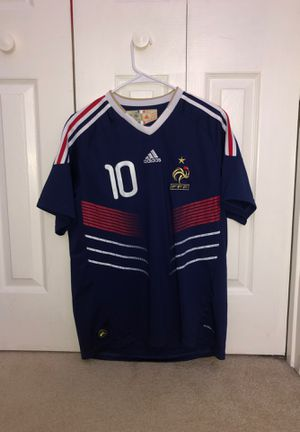 Zinedine Zidans soccer jersey for Sale in Anderson, SC