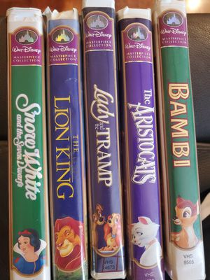Walt Disney Masterpiece VHS Movies for Sale in Chula Vista, CA