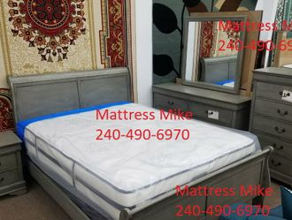 New Stock Gray Color Queen Size Bedroom Set for Sale in College Park,  MD
