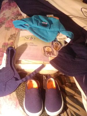3 new hats 1 head dounle support and shoes for Sale in Richmond, VA
