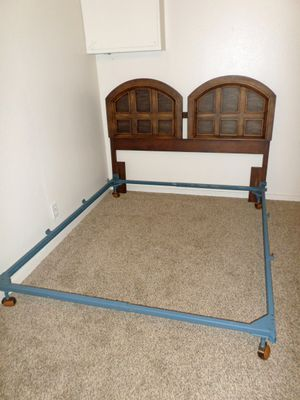 Queen Size Bed Frame & Headboard by Bassett Furniture -- Delivered for Sale in Tacoma, WA