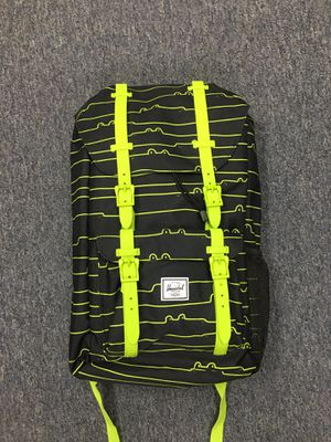 NEW w/Tags YOUTH Kids HERSCHEL Backpack LITTLE AMERICA Black Lime green Later Gator for Sale in Walnut, CA