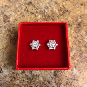 10 Karat Gold and Diamond 4 Piece Earrings for Sale in Orlando, FL