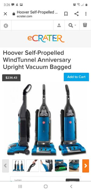 Hoover WindTunnel bagged vacuum for Sale in Sanger, CA