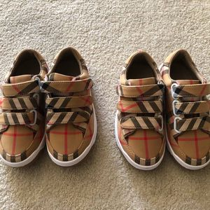 Kids Burberry Vintage Check Cotton Sneakers, Asking $120 for Sale in Redwood City, CA