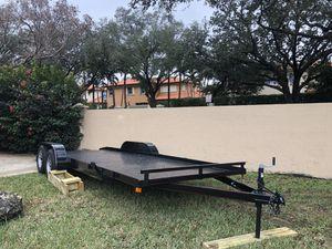 Car hauler car trailer 2 car trailer equipment trailer all trailer bobcat trailer dump trailer for Sale in Homestead, FL