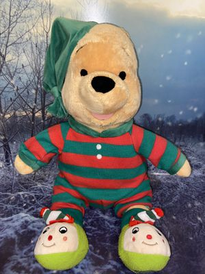 "Limited edition Disney Store Authentic Xmas Winnie Pooh with Christmas PJs 18"" plush toy for Sale in Bellflower, CA"