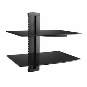 Brand new two tier DVD player shelf wall mount bracket adjustable DVD floating shelves for Sale in Whittier, CA