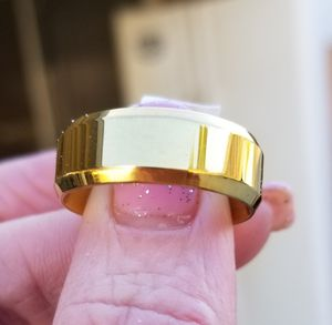 Gold over stainless steel wedding band.... size 10 for Sale in Riverside, CA