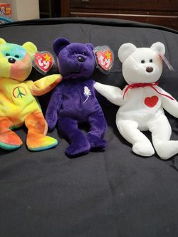 Ty Beanie Babies ( Valentino,Princess,Peace) for Sale in Asheville,  NC