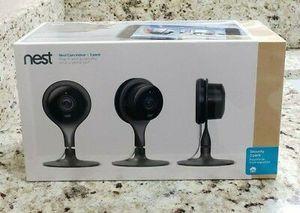 NEST Cam Indoor Smart Security Camera (3 Pack) Model NC1104US - Sealed NEW for Sale in Miramar, FL