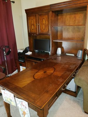 7 piece wooden office desk set for Sale in Cary, NC