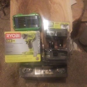 Ryobi Brushless 18V 3-speed Impact Driver 2 Lithium. + HP 18v Batteries And 1 Bit Set for Sale in Custer, WA