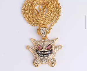 Iced Out Gengar Pendant Gold /w Rope Chain for Sale in Glenburn, ME
