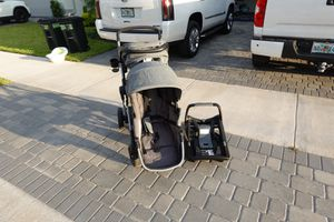 Evenflo Double Stroller with Car Seat and Base for Sale in Delray Beach, FL