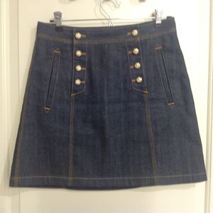Burberry Brit indigo Denim Skirt with Gold Buttons, Size 6/40 for Sale in Austin, TX