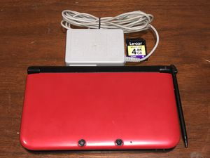 Nintendo 3DS XL Red with Charger, Black Stylus & 4GB SD Card for Sale in Miami, FL