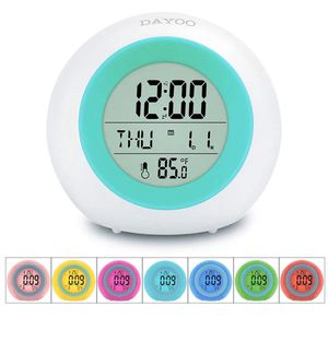 Kids Alarm Clock, LED Digital Clock for Boys Girls, 7 Color Changing Night Light Clock for Kid for Sale in Aurora, CO