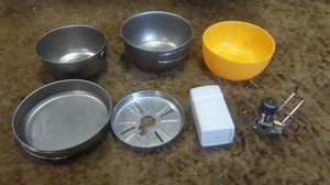 Snow peak stove and 3 PC cooking pot. for Sale in Issaquah, WA