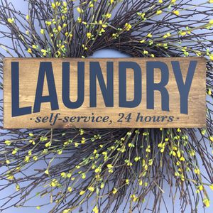 """Laundry room wood sign Farmhouse wood sign new 16""""W x 5.5""""H Handmade for Sale in Costa Mesa, CA"""