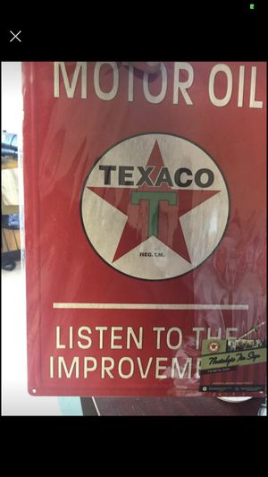 Texaco man cave sign new in plastic for Sale in Burlington, NC