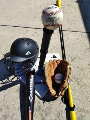 Baseball Hitting Stand - Hit Stick- Baseball bat-Glove -EASTON S3- HELMET ADIDAS for Sale in Thousand Oaks, CA