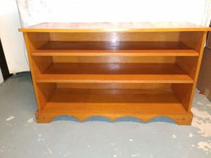 Solid hand made pine open shelf cabinet for Sale in Trenton, NJ