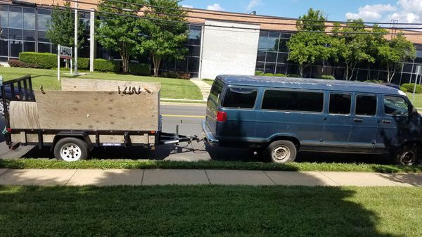 LARGE cargo van & 10 ft trailer -moving, delivery Etc