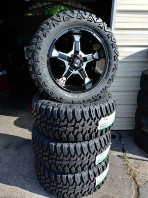 4 new wheels end tires jeep wrangler rin 20. 5x5 for Sale in Mableton, GA
