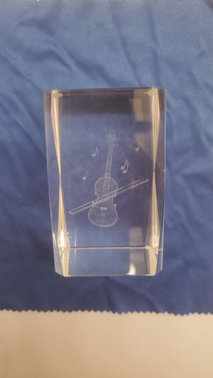 Violin glass etching for Sale in Costa Mesa, CA