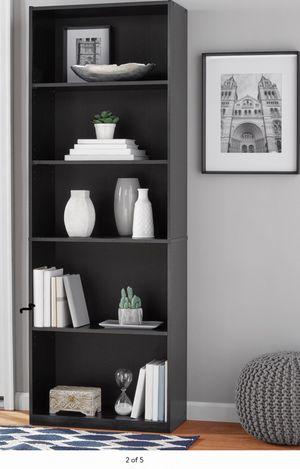 "New!! Bookcase, bookshelves, organizer, 71"" 5 shelves bookcase, storage unit, living room furniture, entrance furniture , black for Sale in Phoenix, AZ"