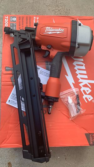 Milwaukee Pneumatic 3-1/2 in. 21 Degree Full Round Head Framing Nailer for Sale in Bakersfield, CA
