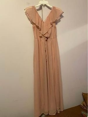 Forever 21 Pink V-Neck Lace Up Maxi Flowy Dress for Sale in Rosemead, CA