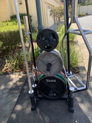 I have All-In-1 Weight Rack and 6 Bars storage rack to all of your Bars and Weight In one place for Sale in Milpitas, CA