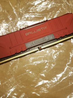 Crucial Ballistix 8GB RAM (Red, Single Stick) 3000mhz for Sale in Long Beach,  CA