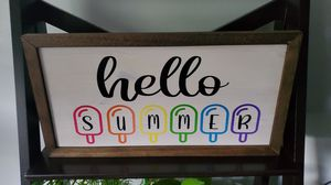 Hello Summer custom made sign for Sale in NO HUNTINGDON, PA