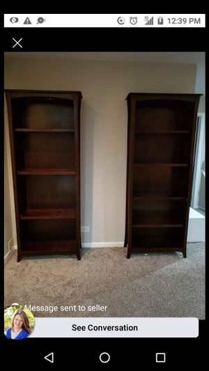Two solid wood bookshelves for Sale in Chicago, IL