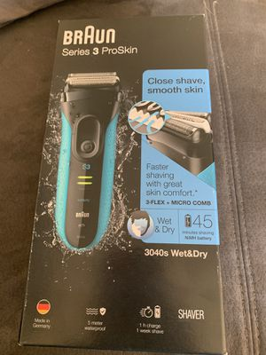 Braun series 3 shaver wet & dry brand new in box for Sale in Miami, FL