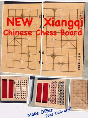 NEW Chinese Chess Game Board Xiangqi Travel Set with Folding Board Traditional Strategy Educational Toys 2 Players MAKE OFFER for Sale in Los Angeles, CA