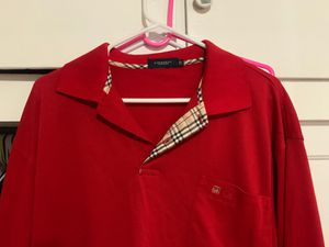 Burberry Red Polo long sleeve size 54 for Sale in Orange, CA