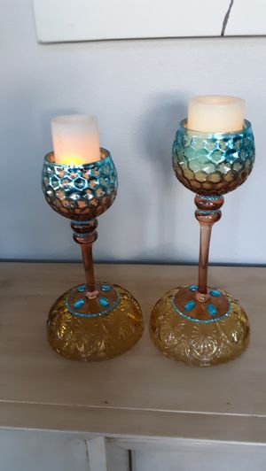 Reversible candle holders/candy dishes for Sale in Manteca, CA