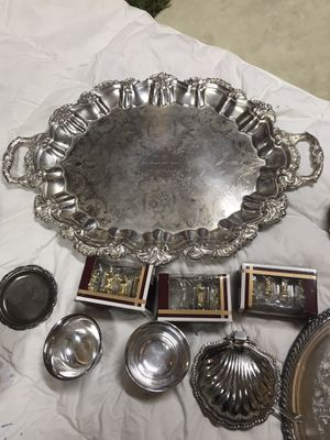 Silver plated serve ware for Sale in Fircrest, WA